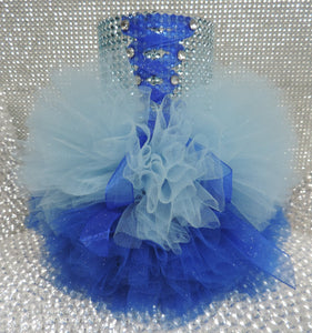 Two Tone Blue Corset Tutu Dress Cylinder Vase