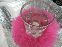 Load image into Gallery viewer, Lime Tulle Hurricane Tealight Wedding Centerpiece