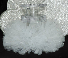 Load image into Gallery viewer, White Tulle Hurricane Tealight Wedding Centerpiece
