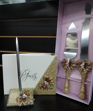 Load image into Gallery viewer, Gold Glitter Wine Flute with Rhinestone Butterfly