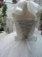 Load image into Gallery viewer, White/Silver Sequin Corset Flowegirl Tutu Dress