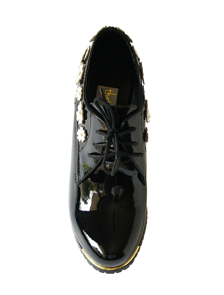 Driving me Daisy black brogues