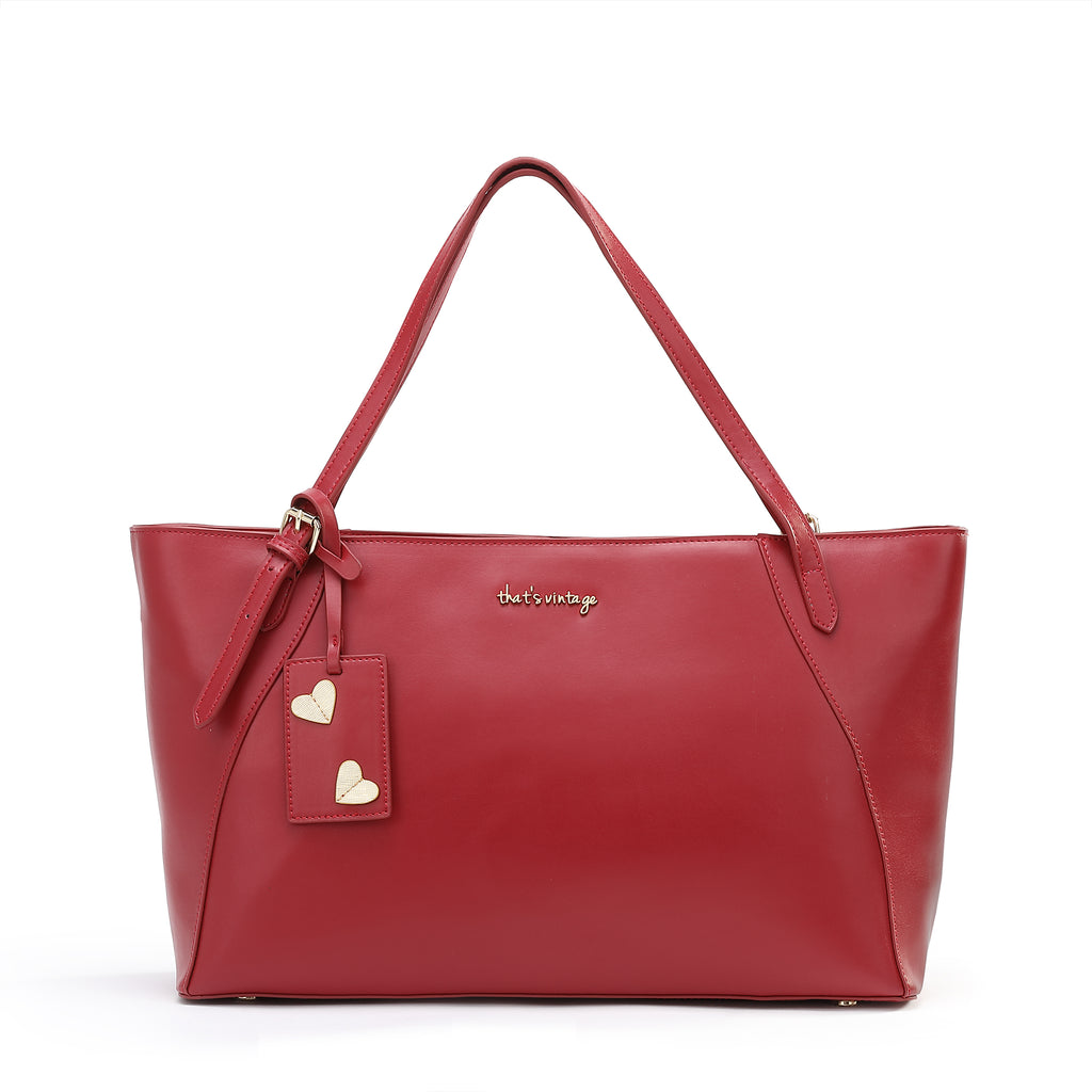 Bold and Beautiful red bag