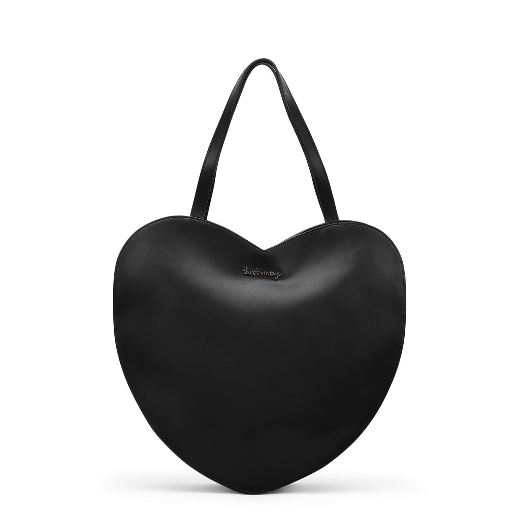 Fire In My Heart Black heart bag