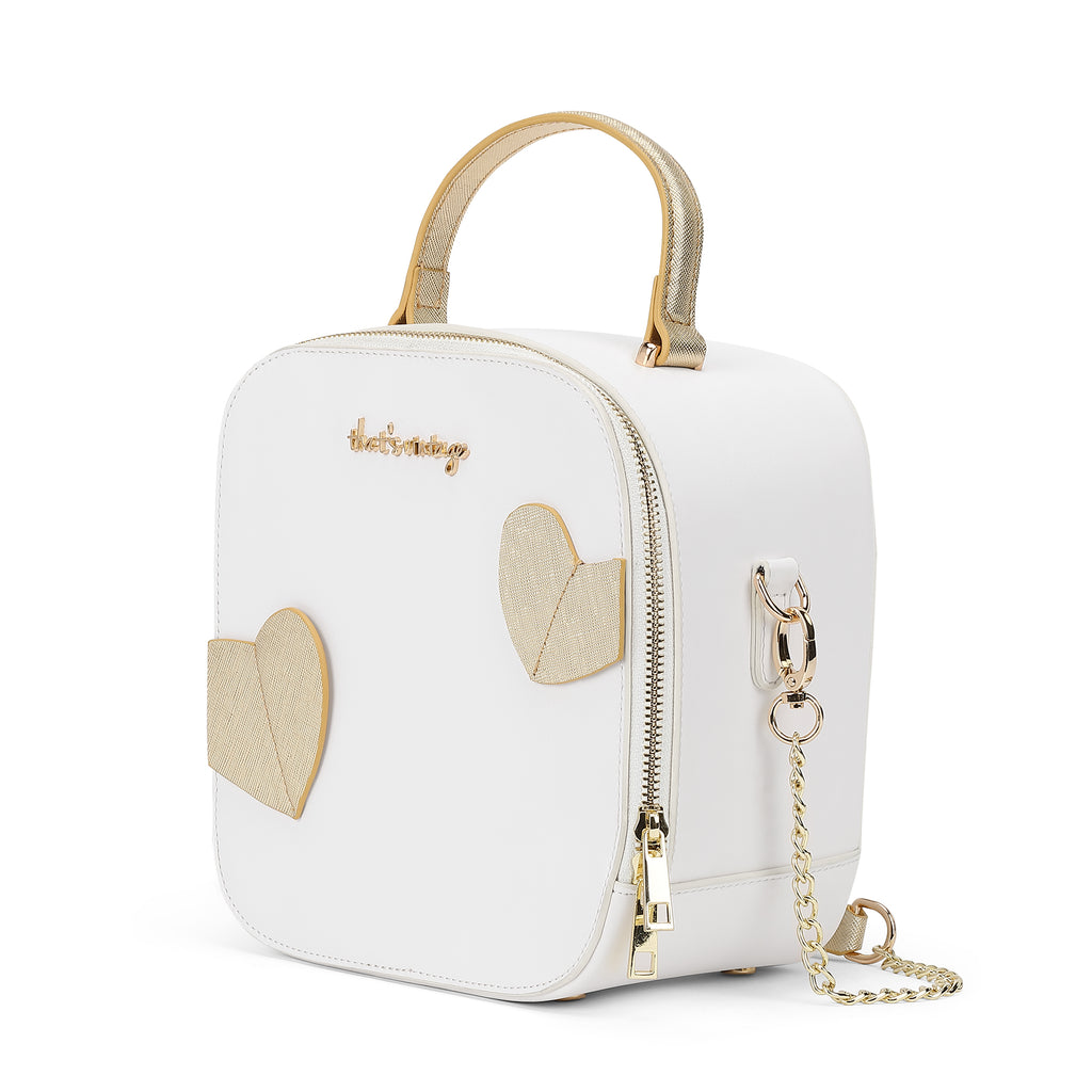 Hearts Gone Wild White heart bag