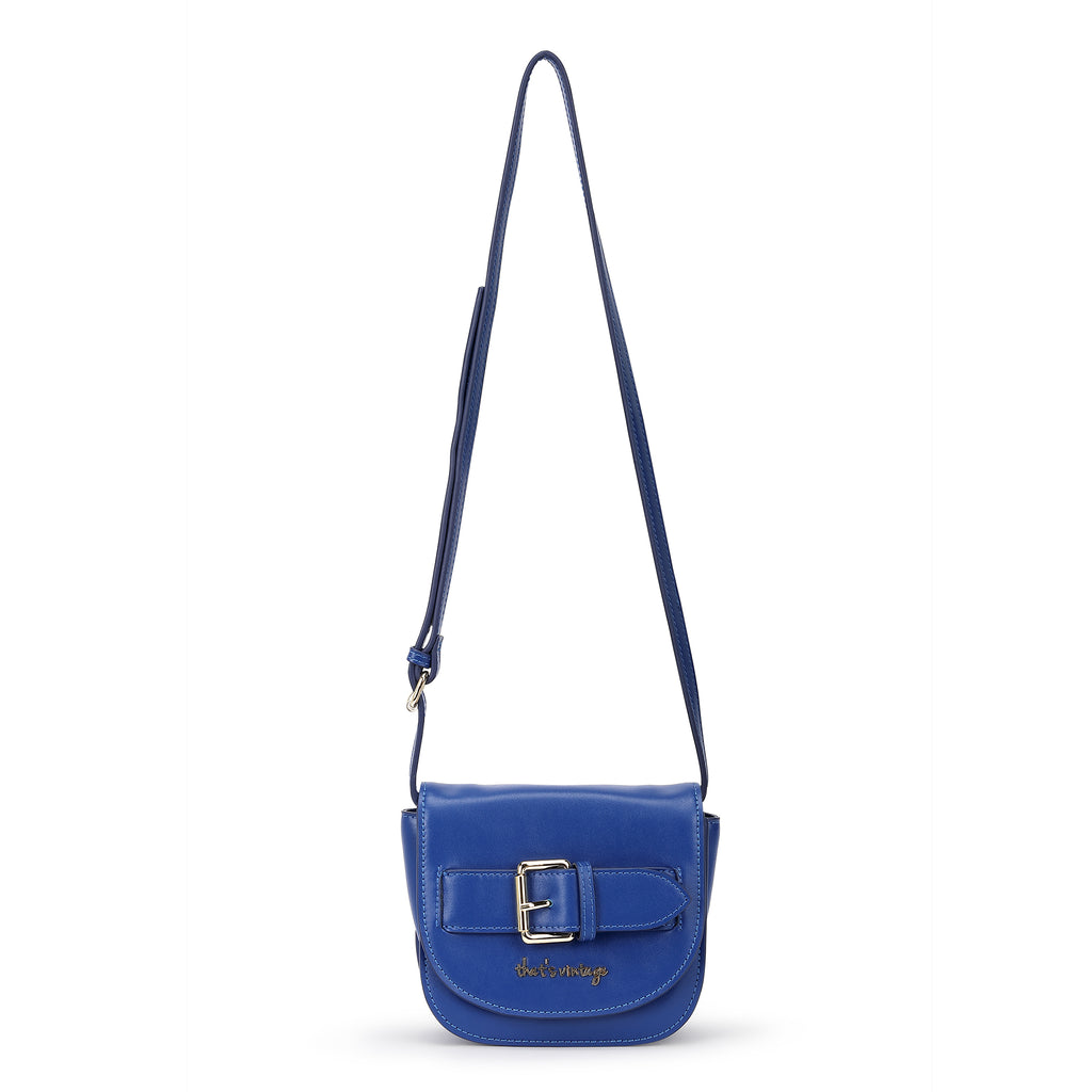 Buckle Me Up Blue blue crossbody bag