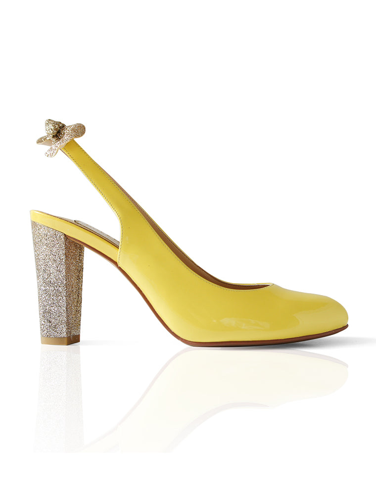 Sunshine Glitter yellow heel