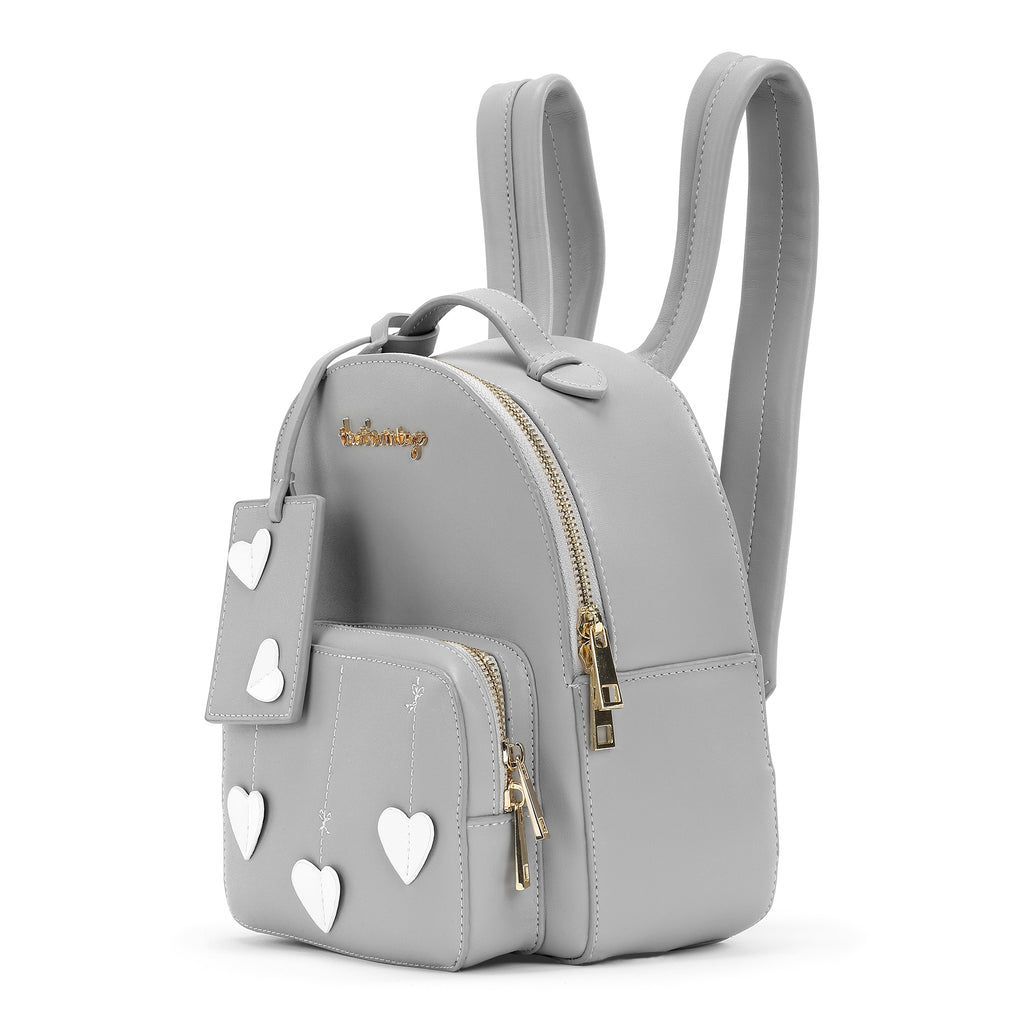 String Heart Grey backpack