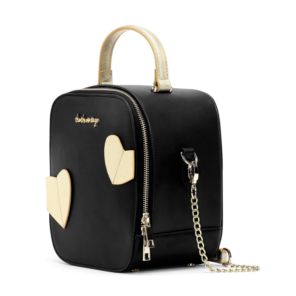 Hearts Gone Wild Black heart bag