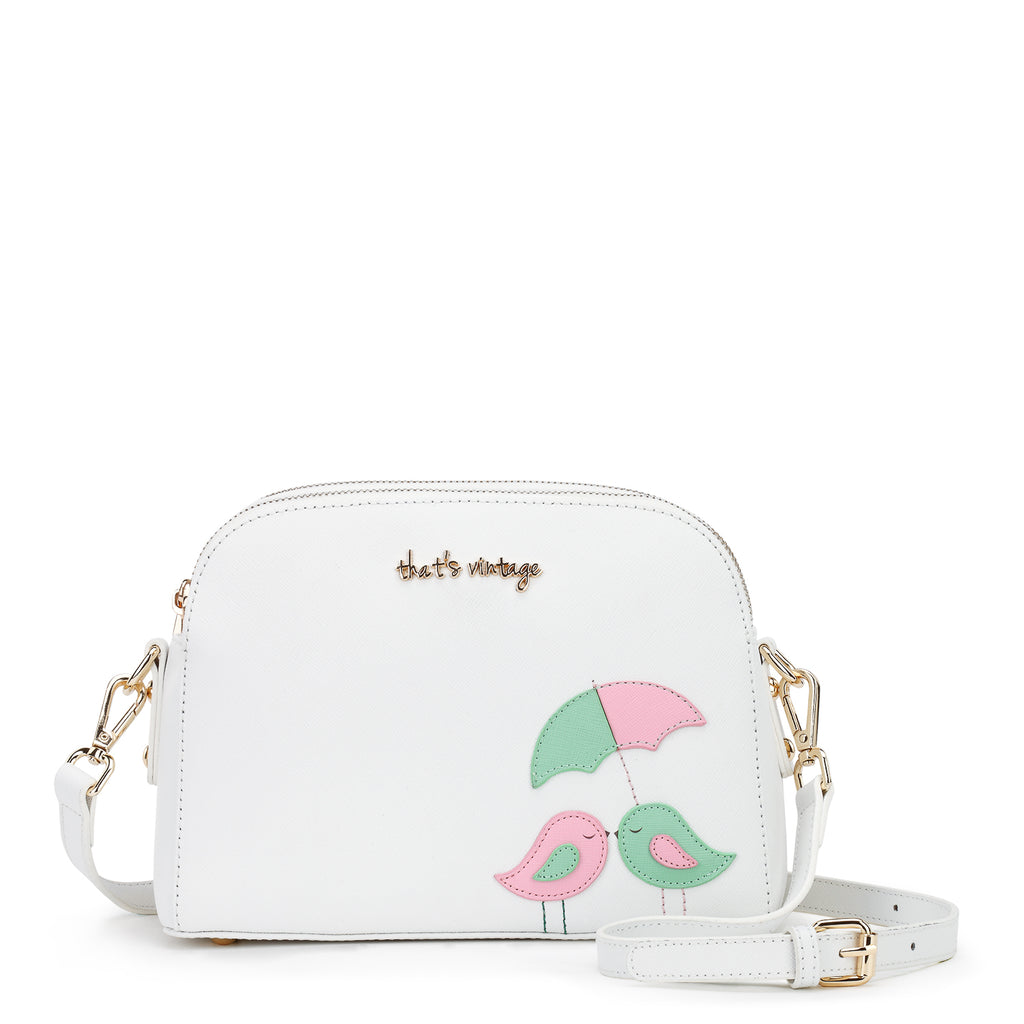 Two Little Birds white bag