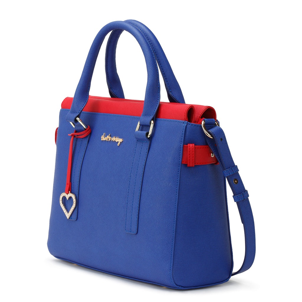 Red into Blue blue red bag