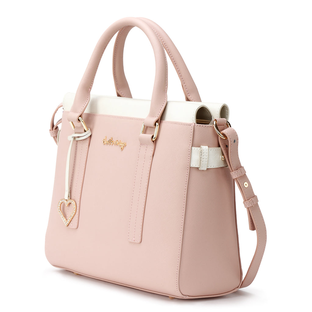 Pearl into Tan nude handbag