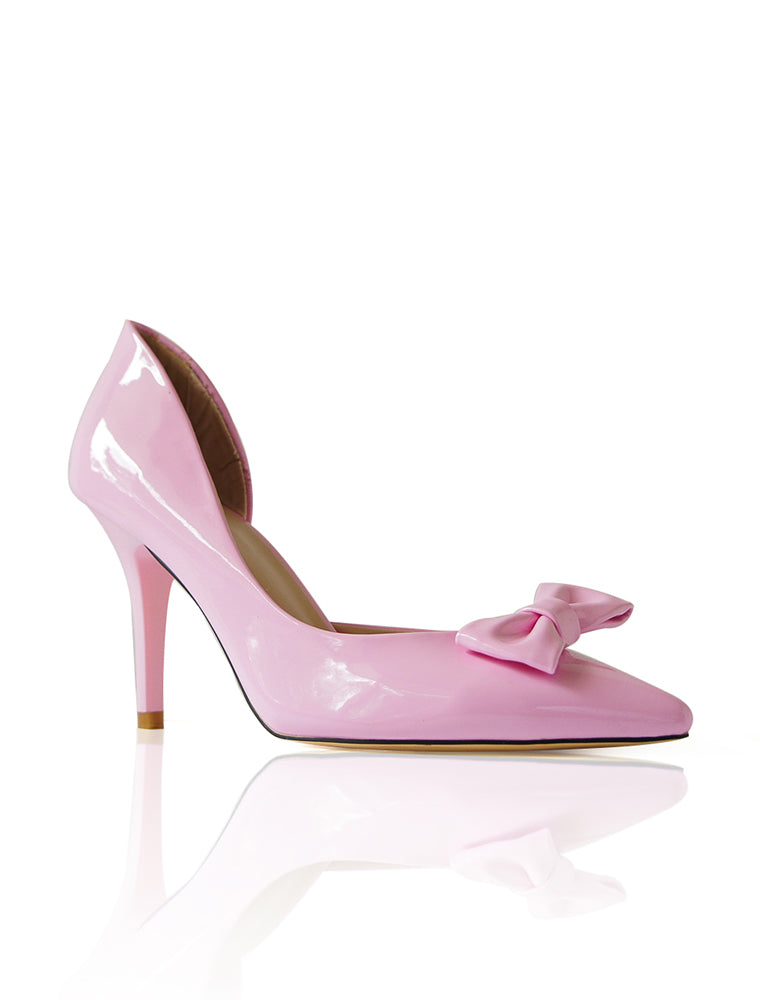 Bow Beauty pink heels