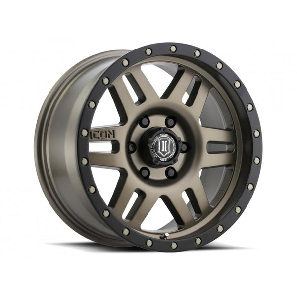 "ICON ALLOY 17"" SIX SPEED BRONZE 17 X 8.5 W/  6 ON 5.5 BOLT CIR"