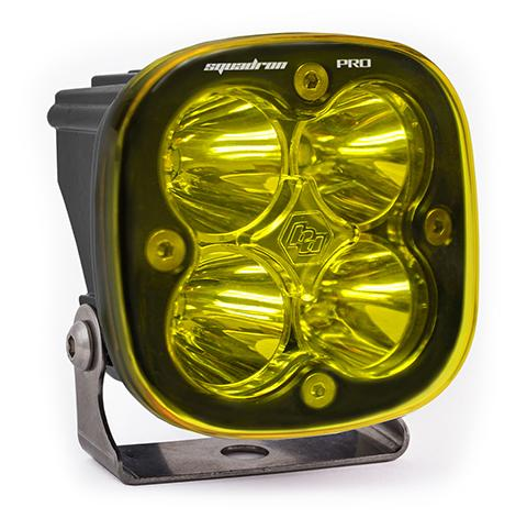 LED Light Pod Black Amber Lens Spot Pattern Squadron Pro Baja Designs