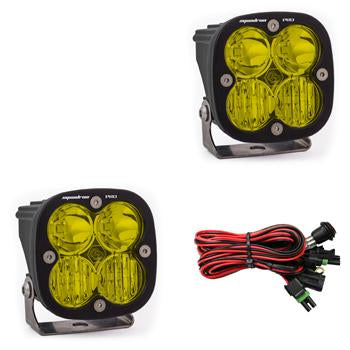 LED Light Pods Amber Lens Driving Combo Pattern Pair Squadron Pro Series Baja Designs