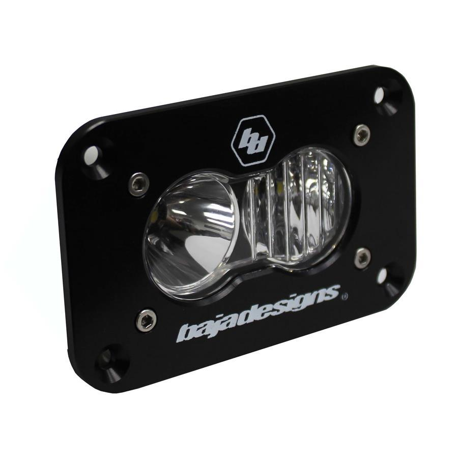 LED Work Light Clear Lens Driving Combo Pattern Flush Mount Each S2 Sport Baja Designs