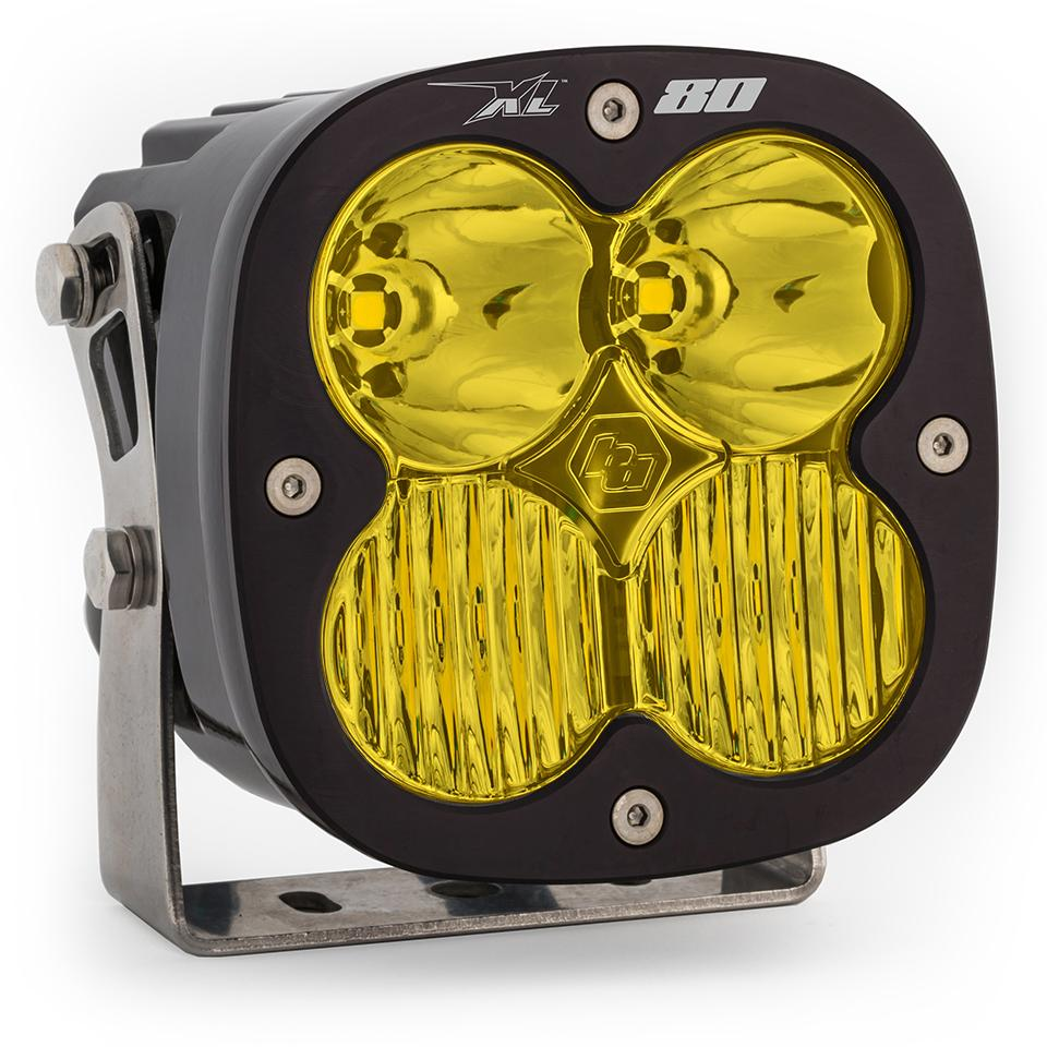 LED Light Pods Amber Lens Spot Pair XL80 Driving/Combo Baja Designs