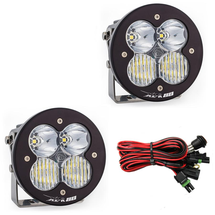 LED Light Pods Driving Combo Pattern Pair XL R 80 Series Baja Designs