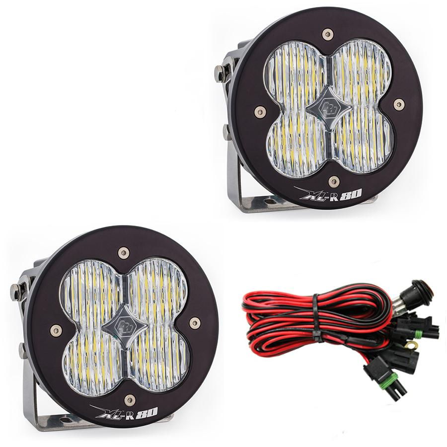 LED Light Pods Wide Cornering Pattern Pair XL R 80 Series Baja Designs