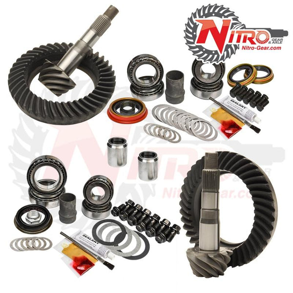 03-09 Toyota 4Runner FJ Hilux 05-15 Tacoma E-Locker 4.56 Ratio Gear Package Kit Nitro Gear and Axle