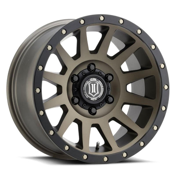 "ICON ALLOY 17"" COMPRESSION BRONZE W/ 6 ON 5.5 BOLT CIR"
