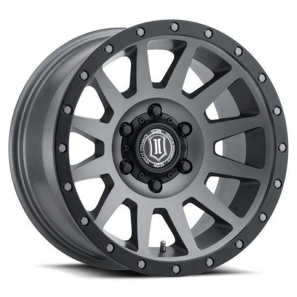 "ICON ALLOY 17"" COMPRESSION TITANIUM W/ 6 ON 5.5 BOLT CIR"