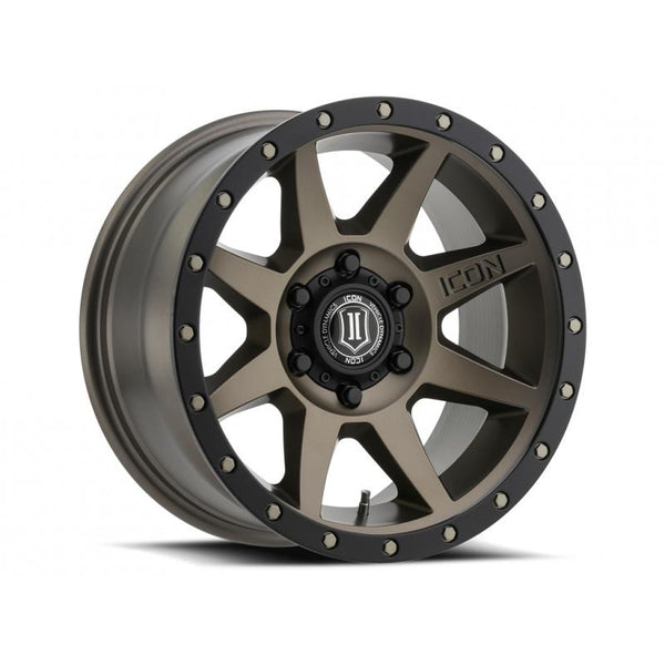 "ICON ALLOY 17"" REBOUND BRONZE W/ 6 ON 5.5 BOLT CIR"