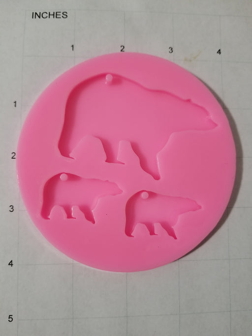 Bear Family Mold
