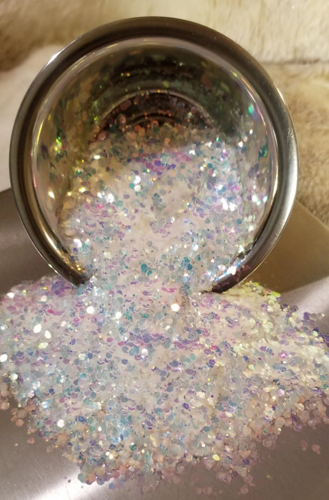 Ice Crystals Chunky Iridescent Mix Glitter