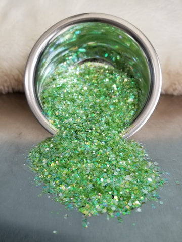 Easter Grass Chunky Iridescent Mix Glitter