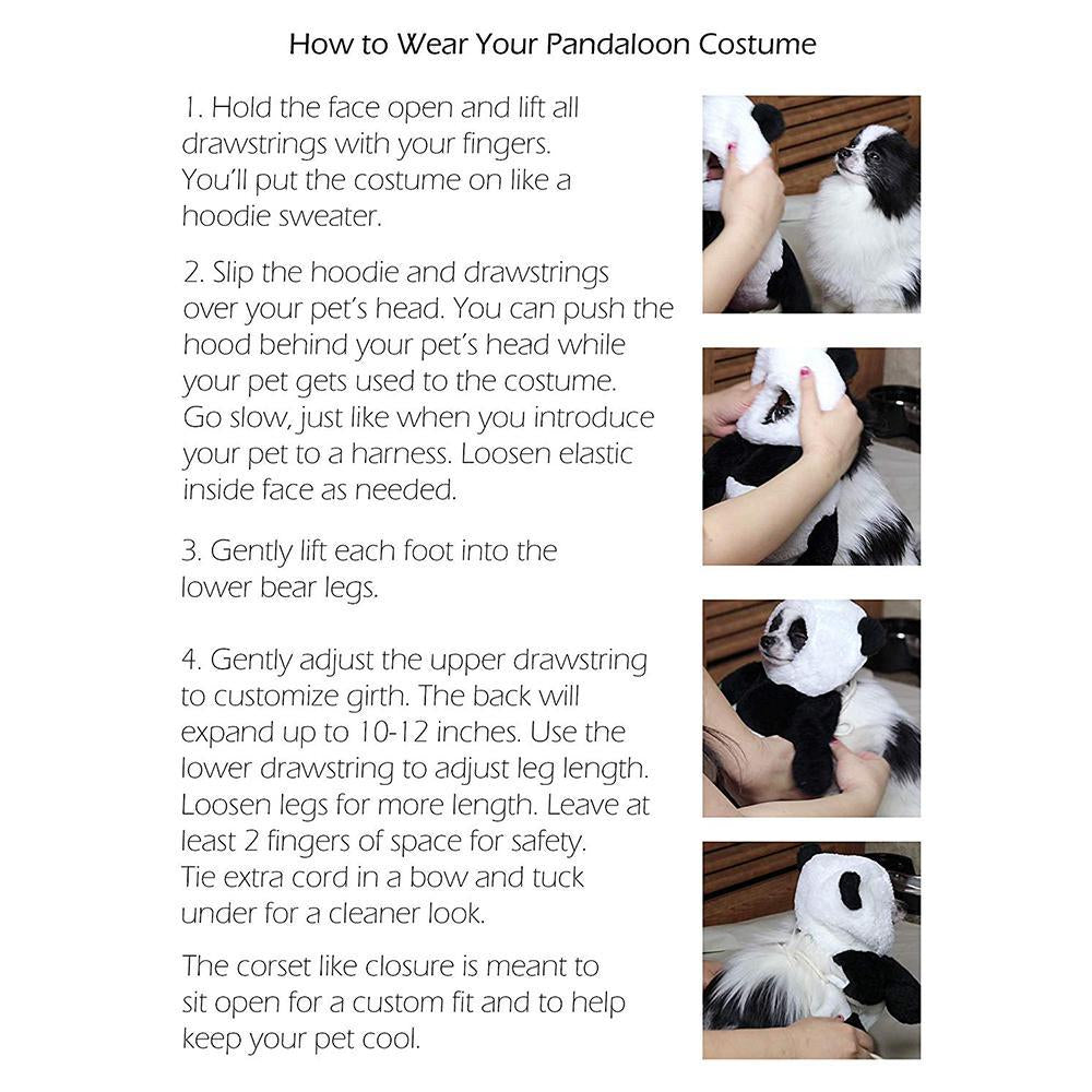 Panda Puppy Dog Costume Set