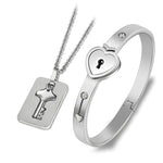 Personalized Titanium Lock Love Jewelry Sets