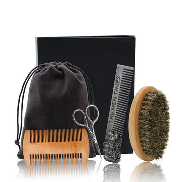 Kit brosse à barbe en poil de sanglier - The-Perfectman
