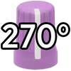 Super Knob 270° / Purple