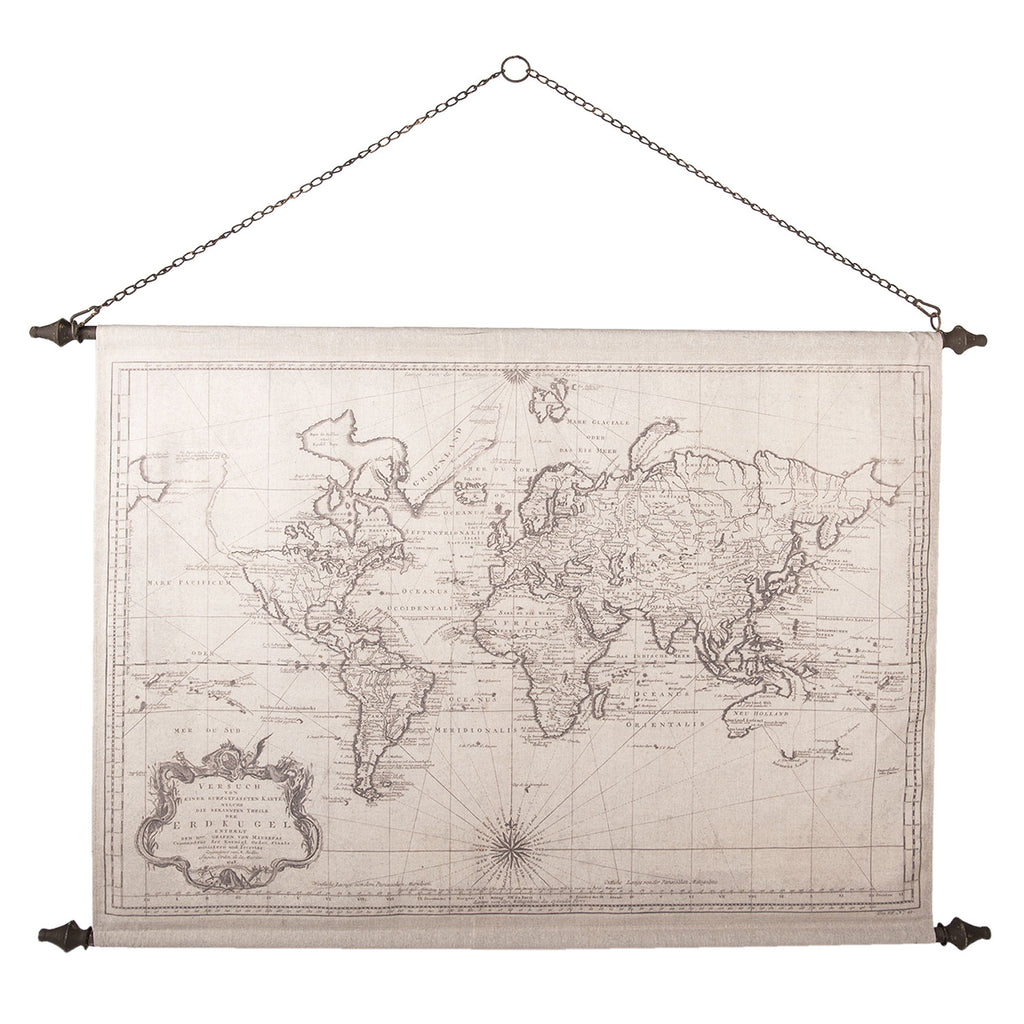 Wall chart world 130*87*4 cm