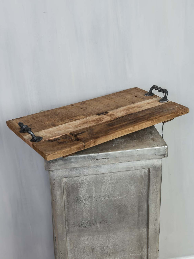 Tray w/handle wood 55x30x2