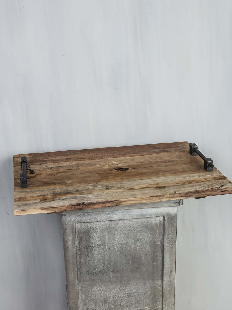Tray w/handle wood 65x45x7