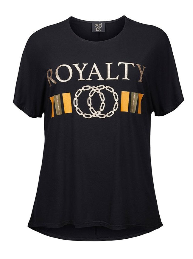 "No 1 By Ox - T-shirt med ""Royalty"" print"
