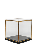Display box black glass ALU/BRAss 16x16x16