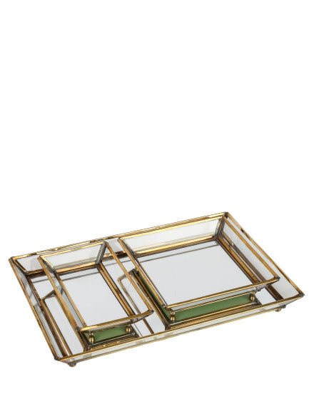 Plate SET/3 BR glass 30x20x3