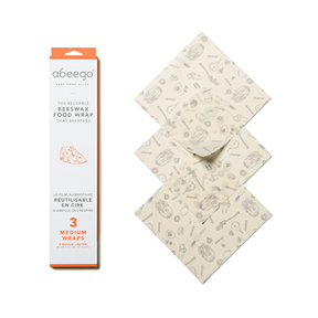 Beeswax Wraps, Abeego - 3 Medium