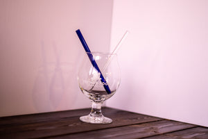 Glass Straws, Small, Straight, Clear