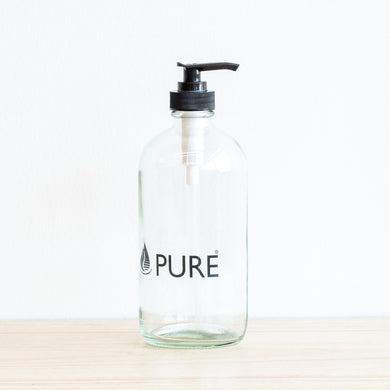 Glass Pump Bottle, Pure, 500 mL