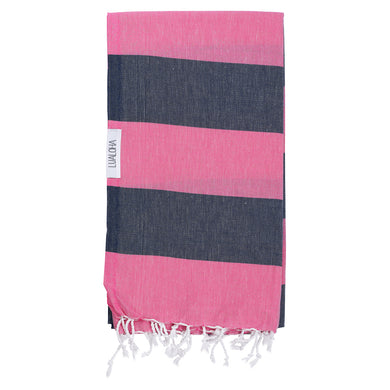 Towel, Buddhaful - Hot Pink & Navy