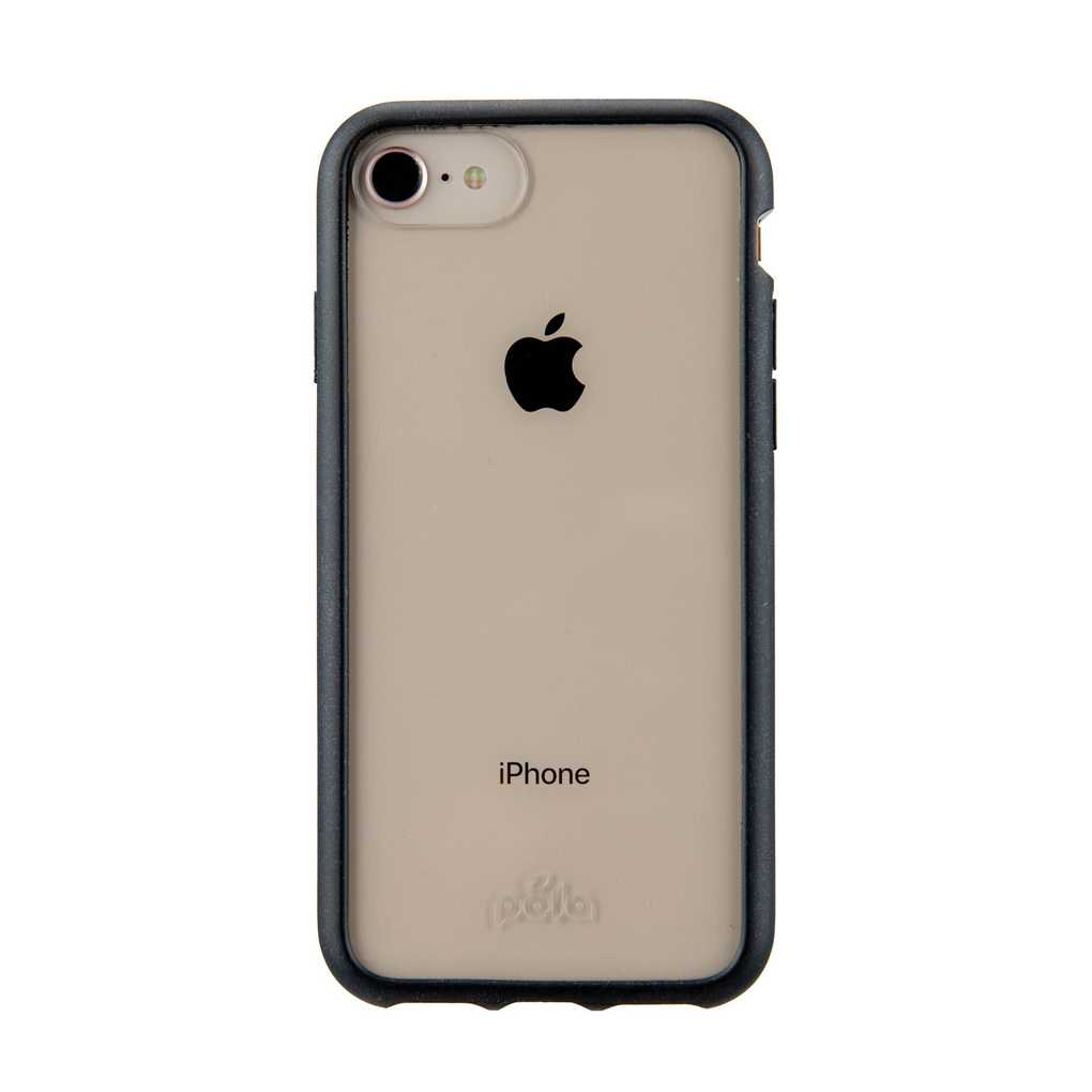 Clear Eco-Friendly iPhone 6/6s/7/8/SE Case with Black Ridge