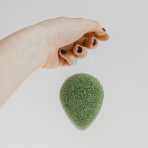 Konjac Sponge, Green Tea