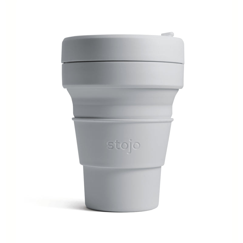 Coffee Cup, Collapsible Pocket Cup, 12oz, Dove
