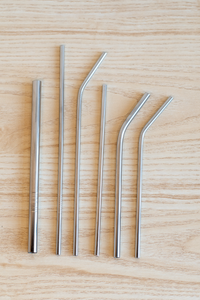 Stainless Straw, Large, Bent