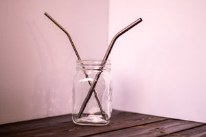 Stainless Straw, Long, Bent